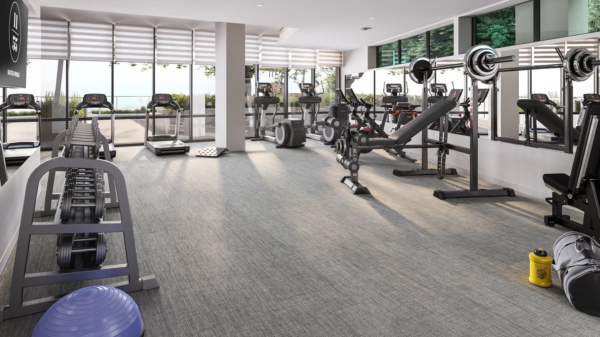 Sate-of-the-Art Fitness Center with a Wide Variety of Equipment