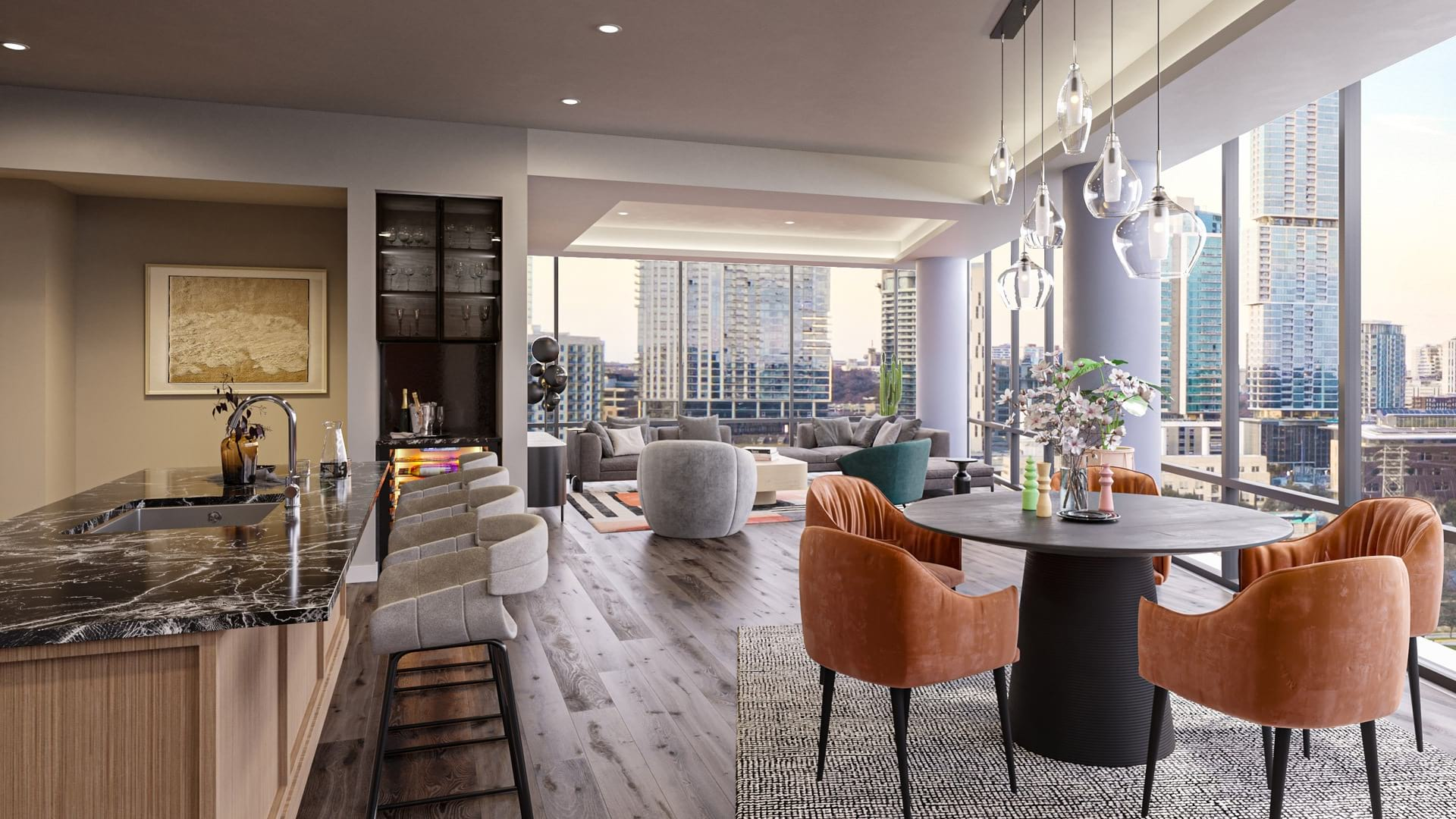 Penthouse with open concept living