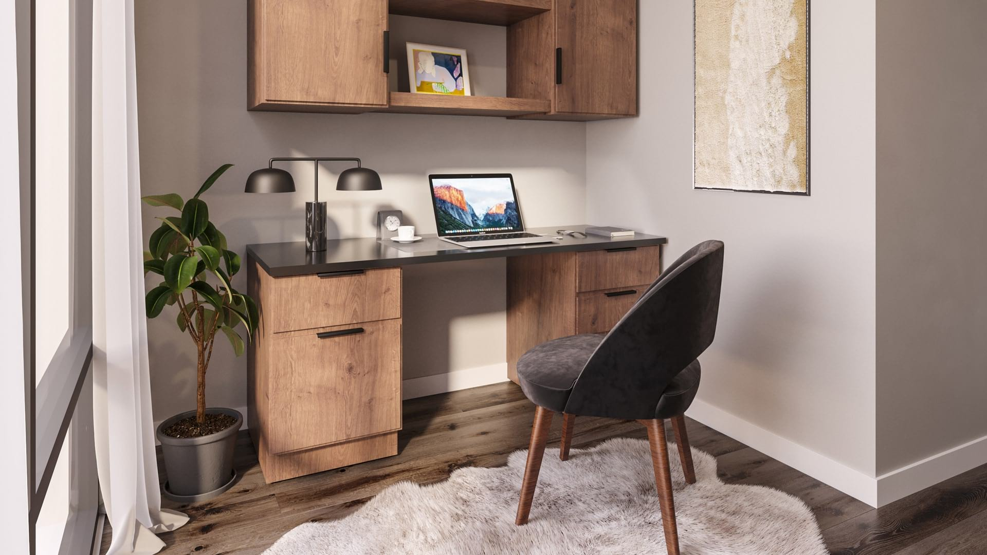 Thoughtfully designed work from home spaces